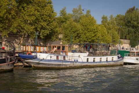 Hausboote an der Seine