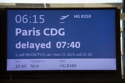 Abflug nach Paris - bitte warten...