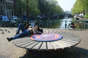 """""""Chill out"""" Bereich am Nieuwmarkt"""