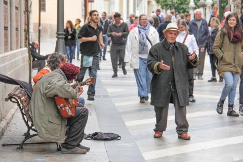 Straßenmusiker in Malaga