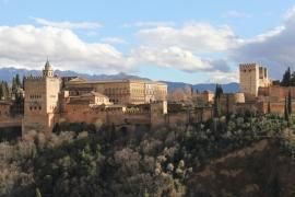Ausblick auf die Alhambra vom Mirador San Nicolás / Granada