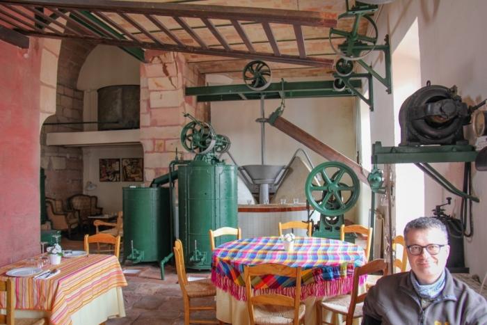 Restaurant im Hotel Molino da Nava bei Montoro