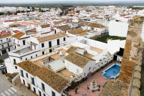 Ausblick vom Burgturm auf Carmona