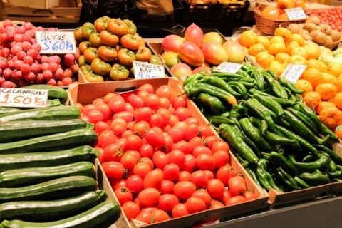 Gemüse am Mercado San Agustín / Granada