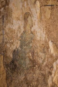 Fresko im Grab der Girlanden in der Necrópolis Romana bei  Carmona
