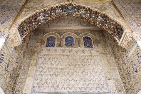 Details vom Königspalast Real Alcázar in Sevilla
