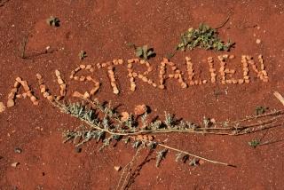 Australien Schriftzug