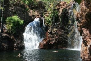 Schwimmen im Florance Falls Billabong
