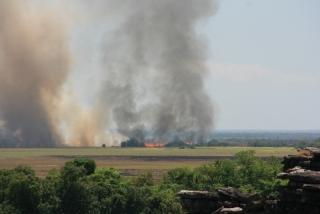 Buschbrand beim Ubirr Rock