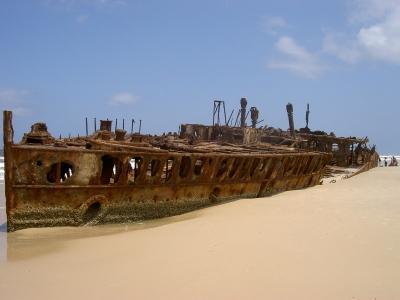 Wrack der Maheno auf Fraser Island