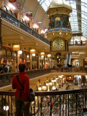 Die Uhr im Queen Viktoria Einkaufszentrum