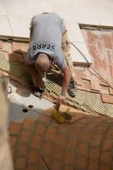 Renovierungsarbeiten am Dach der Sagrada Família