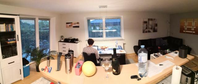 Wohnzimmer der Ferienwohnung Marika