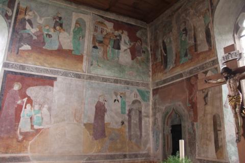 Fresken in der  Leonhards Kapelle bei Landschlacht