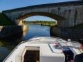 Erste Herausforderung für den Kapitän des Hausboots