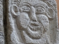 Steinrelief im Klostergarten der Abteil Tournus