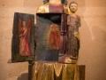 """Die """"sich öffnende Jungfrau"""" der Eglise St-Pierre –et-St-Paul in Eguisheim"""