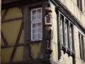 Fasadenskulptur des Maison Pfister in Colmar