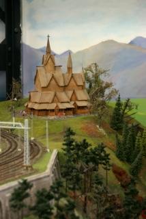 Norwegische Stabkirche im Miniatur Wunderland