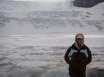 Athabasca Gletscher bei Schlechtwetter