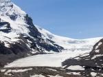 Am Athabasca Gletschers bei Schönwetter