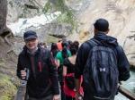 Massenauflauf im Johnston Canyon