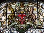 Glasfenster mit Wappen von British Columbia