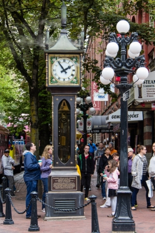 Die Steam Clock in der Water Street