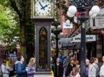 Die Steam Clock in der Water Street