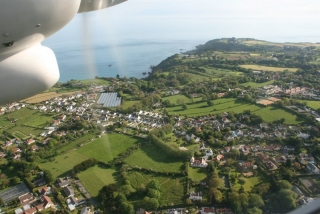 Anflug auf Guernsey