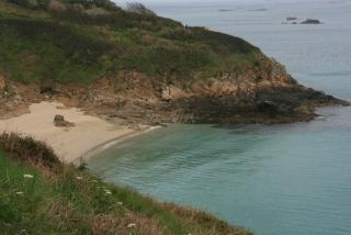 Belvoir Bay, einen der schönsten Strände Herms