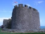 Castle Orgueil über Gorey