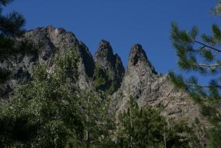 Das Bergmassiv bei Haut-Asco