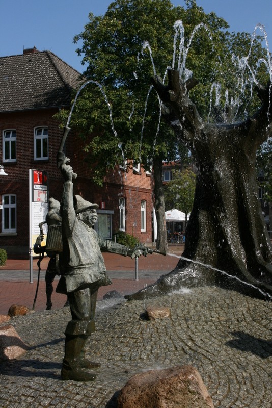 Der Stadtbrunnen in Schneverdingen