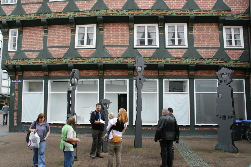 Hoppenerhaus in Celle mit den sprechenden Laternen