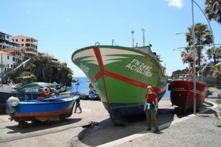 Boote im Hafen von Cãmara de Lobos