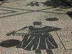 Mosaik auf dem Gehsteigen von Funchal