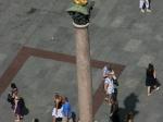 Die Mariensäule von oben
