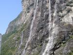 Der berühmte Wasserfall 'Seven Sisters'