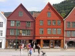 Alte Häuser in Bergen