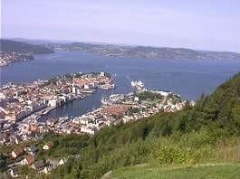 Ansicht Bergen vom Hausberg Floy