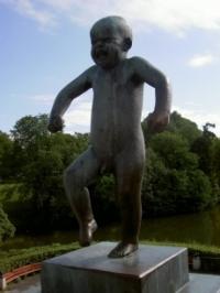 Der zornige Junge im Vigelandspark