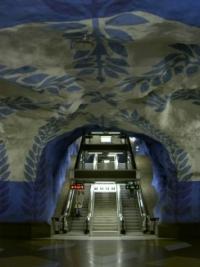 U-Bahn Station in Stockholm
