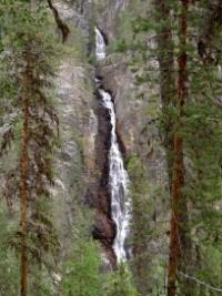 Wasserfall im Muddus Nationalpark