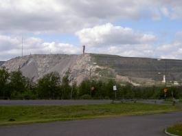 Übertage-Bergwerk in Kiruna