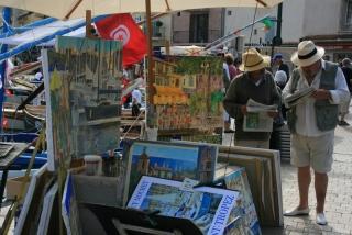 Künstler am Hafen von St. Tropez