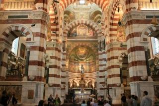 Innenraum der Kathedrale Notre Dame de la Garde in Marseille