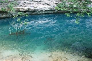 Die Quelle Fontaine-de-Vaucluse