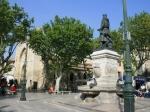 Der Dorfplatz von Aigues Mortes