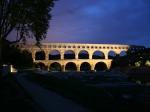 Pont du Gard bei Nacht